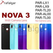 Dla Huawei Nova 3 pokrywa baterii tylna szyba NOVA3 obudowa tylnej obudowy dla Huawei Nova 3 pokrywa baterii PAR-LX1 PAR-LX9 wymienić