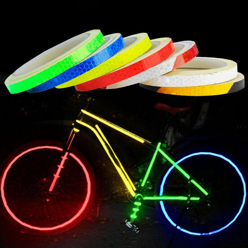 800 cm Fluorescent vtt vélo vélo moto autocollants réfléchissants bande décalque bande étanche sécurité nuit cyclisme