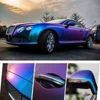 Glossy Color DIY Car Body Films Vinyl Car Wrap Sticker Decal Air Release Film Blue 152x120cm