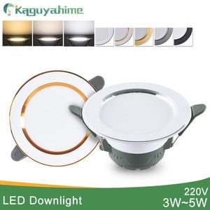 Image 1 - Kaguyahime 1/4 Đèn Downlight Âm Trần 3000 K 4500K 6000K Đèn LED 5 W Trong Nhà Đèn Đèn AC 220V Đèn Trợ Sáng Vàng Bạc Bề Mặt