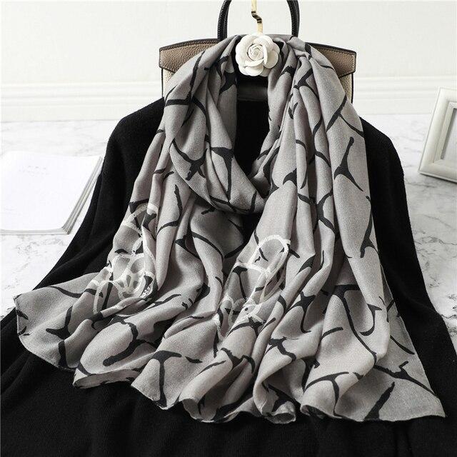 Écharpe à imprimé en coton pour femme 5