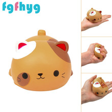 Squishy Toy 2019Top Hot Cute Cat Shape Decompression Venting Toy Slow Simulation Animal Toy Juguetes De Los Ninos