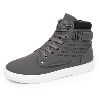 Men's casual high top sneakers letter printed lace up skateboard shoes 2019 new classic mens shoes canvas sneaker footwear d25