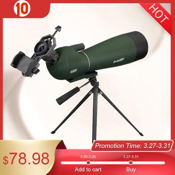 SVBONY SV28 20-60x80mm Powiększenie lunety celownicze BAK4 pryzmat FMC obiektyw obserwacja ptaków polowanie monokularowy teleskop luneta wodoodporna F9308 do polowania strzelania łucznictwa obserwowania ptaków tanie i dobre opinie Svbony SV28 Spotting Scope 20x-60X 108-54 ft 1000yd 16-14mm Yes (IP65) Fold Down Camping Birdwatching Telescope adapter