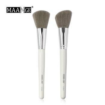 MAANGE 1Pcs Oblique Head Blush Makeup Brush Face Cheek Contour Cosmetic Powder Foundation Blush Brush Angled Makeup Brush Tools 1