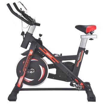 Gospodarstwo domowe spinning bike standardowe wyciszenie jazda rower treningowy gruba stalowa rurka LF-118 tanie i dobre opinie OUZEY B037 100 * 81 * 24cm Front drive belt Aerobic cycling fitness Red Blue