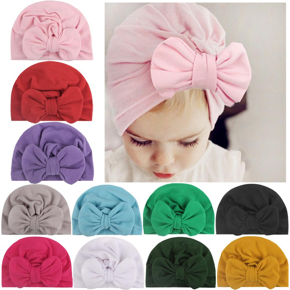 Baby Bow Hat Knotted Hats Velvet Indian Hats Children'S Hats Headbands Baby Products