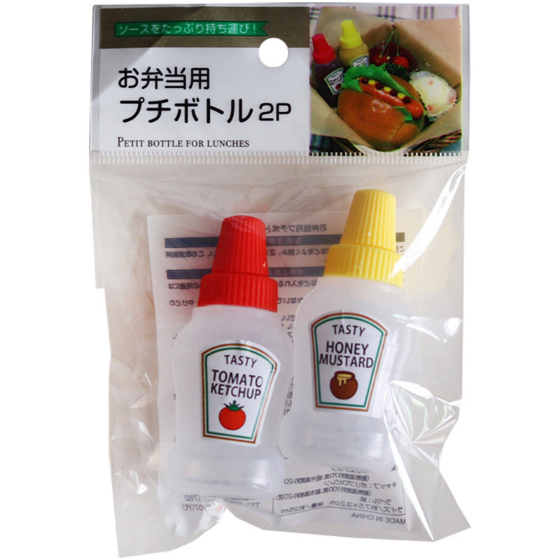 2pcs/3pcs <font><b>25ML</b></font> <font><b>Container</b></font> Salad Dressing <font><b>Container</b></font> Food Box Mini Ketchup Bottle Portable Sauce <font><b>Container</b></font> Bento Box image