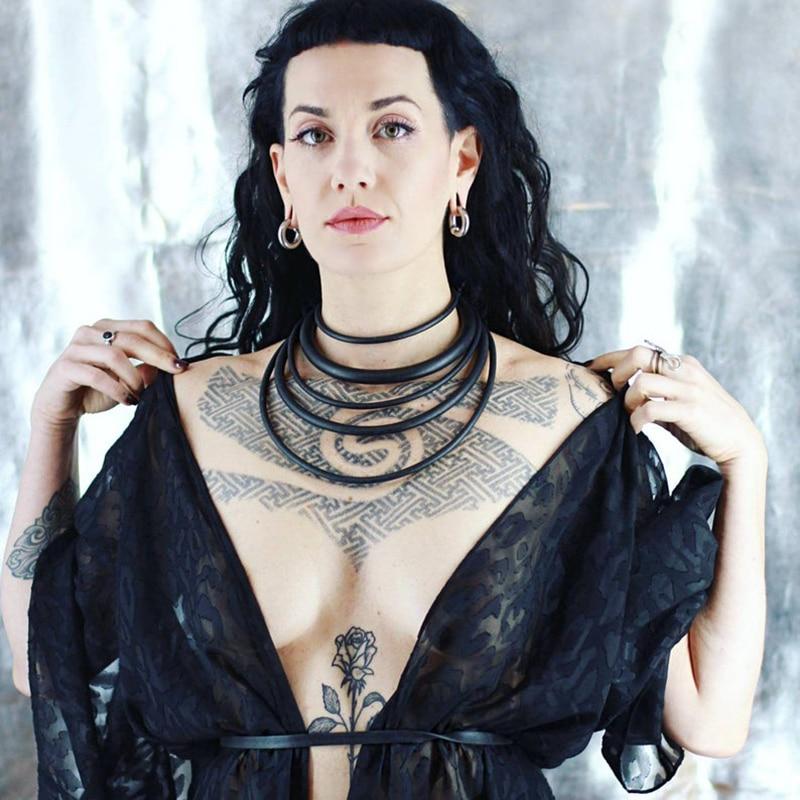 Choker Necklace Punk-Accessories Rubber Handmade Jewelry YDBZ Fashion Rope Women