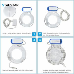 Image 4 - STANSTAR Wall Mount for TP Link Deco M5 Whole Home Mesh WiFi System,Space Saving Wall Holder Plug in Without Messy Wires