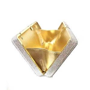 Image 4 - Transporte rápido por atacado luxo saco famoso luxos bolsas feminino festa à noite cristal pilha de dinheiro rico garras bill bolsas