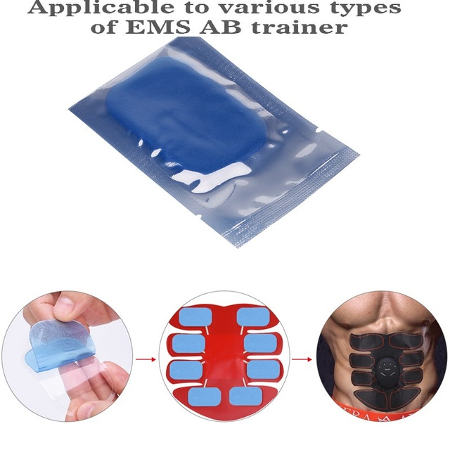 Gel Pads for EMS Abdominal ABS Trainer Weight Loss Hip Muscle Stimulator Exerciser Replacement Massager Gel Patch 4