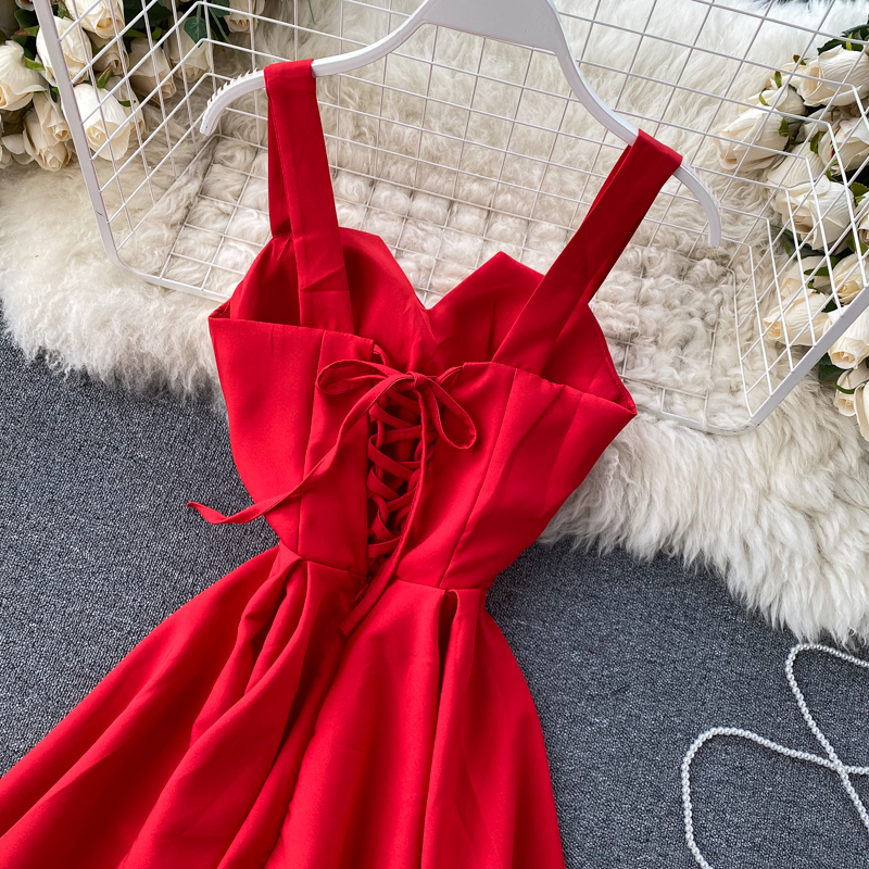 Elegant Vintage Sleeveless V-Neck Bandage Dress 29