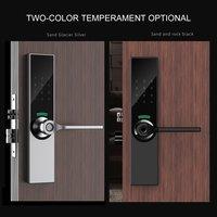 YG05 Digital Biométrico de impressões digitais Bloqueio Inteligente Keyless Fechadura Da Porta de Impressão Digital + Senha + RFID Card + Chave + APP Desbloquear 5 maneiras|Fechaduras de portas| |  -