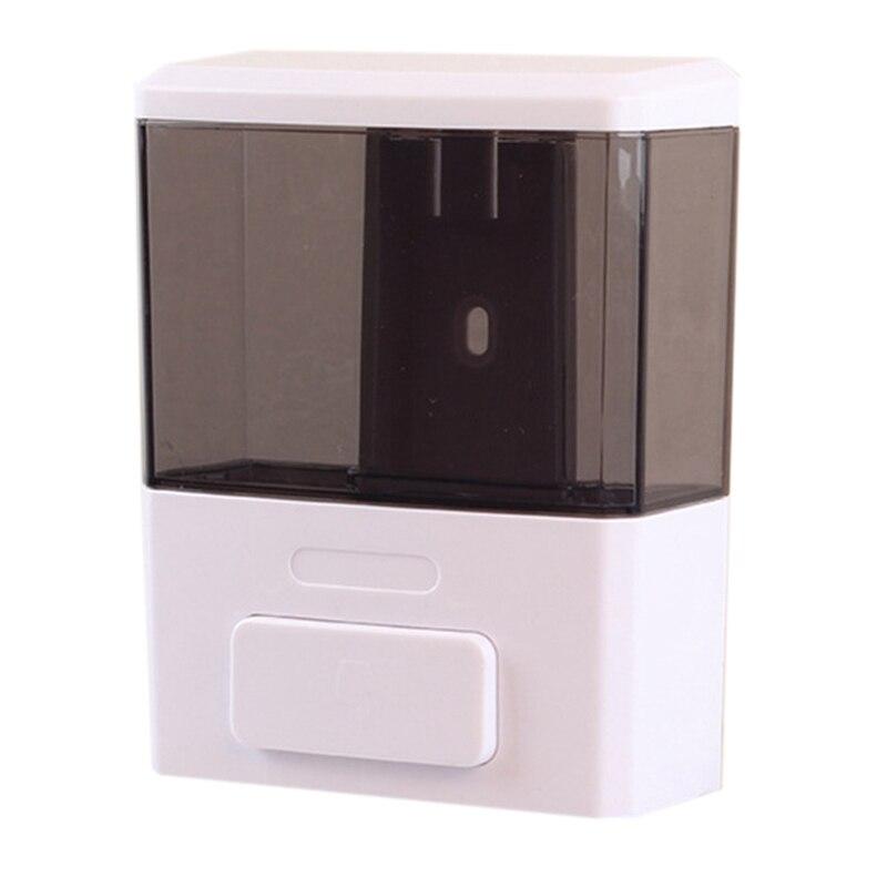 Manual 350Ml Capacity Wall-Mounted Soap Dispenser Plastic Single Head Soap Dispenser Hotel Bathroom Supplies