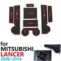 Противоскользящие резиновые чашки подушки двери паз коврик для Mitsubishi Lancer Ralliart EVO X Galant Fortis EX 2008 ~ 2016 автомобильные аксессуары