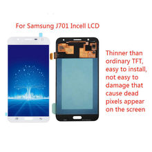 Lcds digitador completo para samsung galaxy j7 neo j701 j701f j701m j701mt incell display lcd com substituição do conjunto da tela de toque(China)