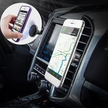 MALUOKASA Магнитная автомобильная подставка для телефона для iphone 8 7 6s samsung S8 Air Vent gps универсальный держатель мобильного телефона с автоматической застежкой
