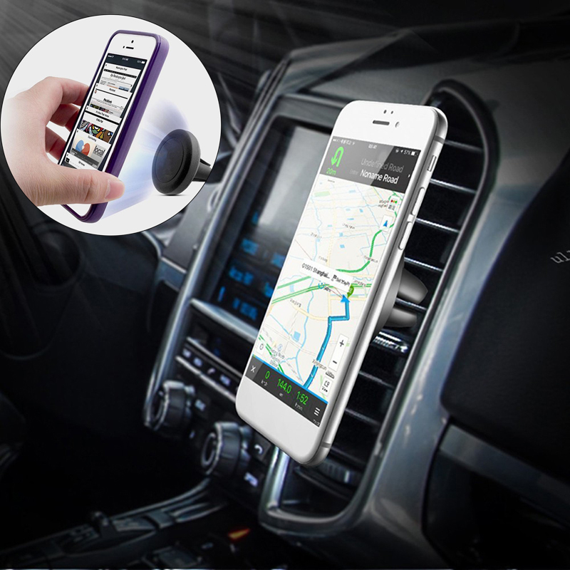 MALUOKASA Magnetic Car Phone Holder Stand For iphone 8 7 6s Samsung S8 Air Vent GPS Universal Mobile Phone Holder Auto Fastener