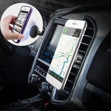 MALUOKASA מגנטי רכב מחזיק טלפון Stand עבור iphone 8 7 6s Samsung S8 אוויר Vent GPS אוניברסלי נייד טלפון מחזיק אוטומטי אטב