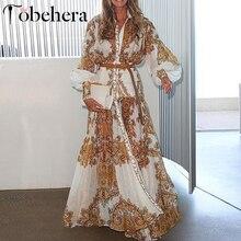 Glamaker Vintage sexy maxi Vestido Mujer verano boho Cachemira floral estampado playa vestido mujeres otoño blanco largo elegante vestido de fiesta