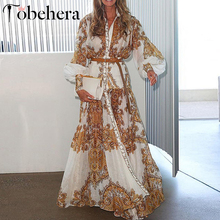 Glamaker Vintage sexy maxi robe femme été boho floral paisley impression robe de plage femmes automne blanc longue élégante robe de soirée