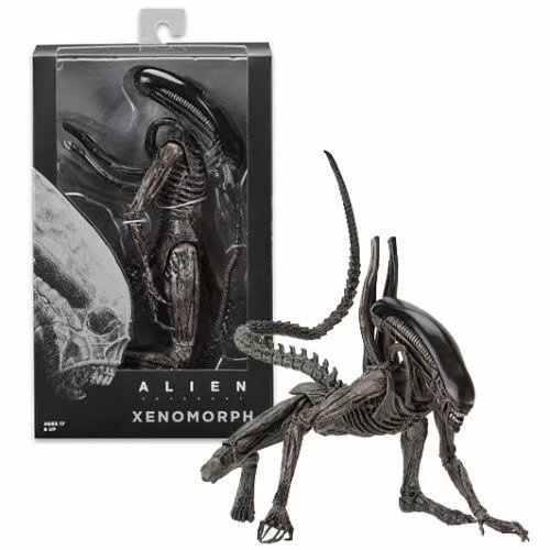 """7 """"Alien échelle xénophe Alien Action Figure extensible bouche intérieure alliance Moive collection 2017 NECA Alien série"""