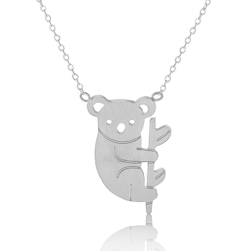 Australia Koala Necklace For Women Collar Mujer Gold Stainless Steel Chain Femme Pendant Necklace Minimalist Jewelry for Friends