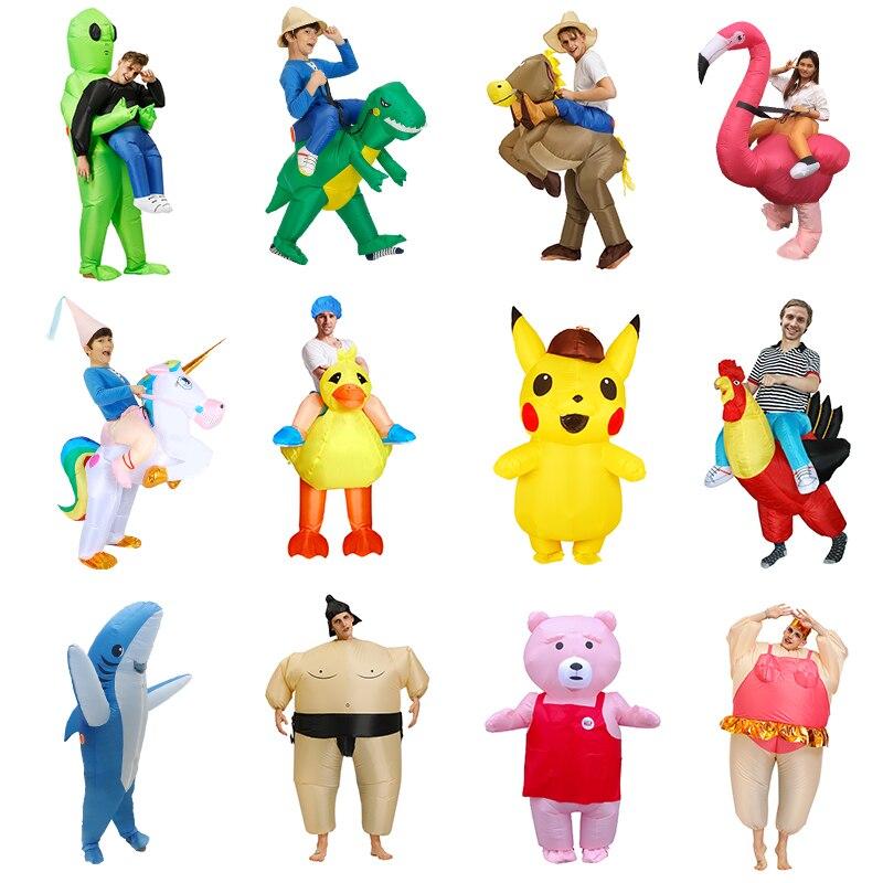 Neue Aufblasbare Dinosaurier kostüm Alien Sumo Party kostüme einhorn anzug kleid Cosplay disfraz Halloween Kostüme Für Erwachsene kinder
