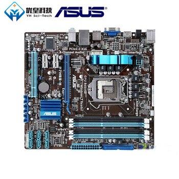 中古オリジナルデスクトップマザーボードインテル H55 Asus P7H55 M ソケット LGA 1156 コア i7/i5/i3/Pentium DDR3 16 グラム uATX -