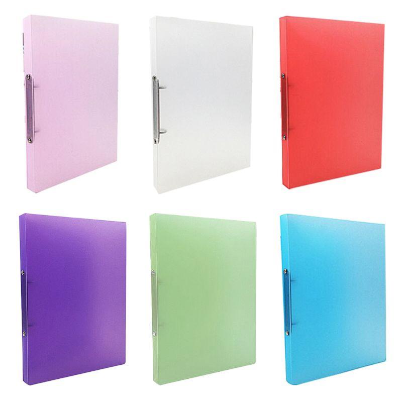 A4 Clip File Folder Transparent Candy Color Loose Leaf Binder Storage Organizer Office Supply