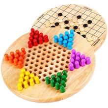 Китайская детская игра в шашки портативная развивающая интеллектуальная развивающая деревянная игрушка головоломка шахматы игрушки для детей
