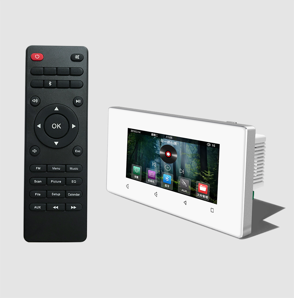 172 Style Touch Screen Home Office Hotel  Store Audio Visual In Wall Integrated Amplifiers Controller, Support Bluetooth /RS485