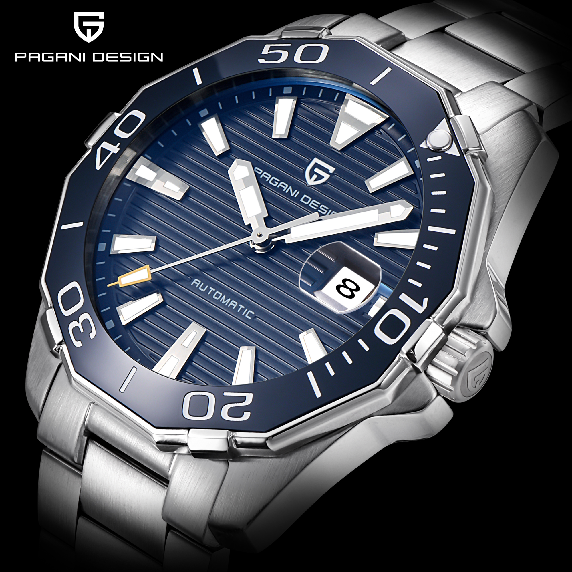 Men Watch Military Sport PAGANI DESIGN 2020 Top Brand  Automatic Mechanical Watches Waterproof Stainless Steel Relogio Masculino