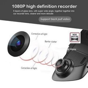"""Image 4 - Traço do carro câmera dupla 5 """"1080p fhd carro dvr toque espelho retrovisor câmera g sensor gravador de visão noturna lente dupla traço cam b33"""