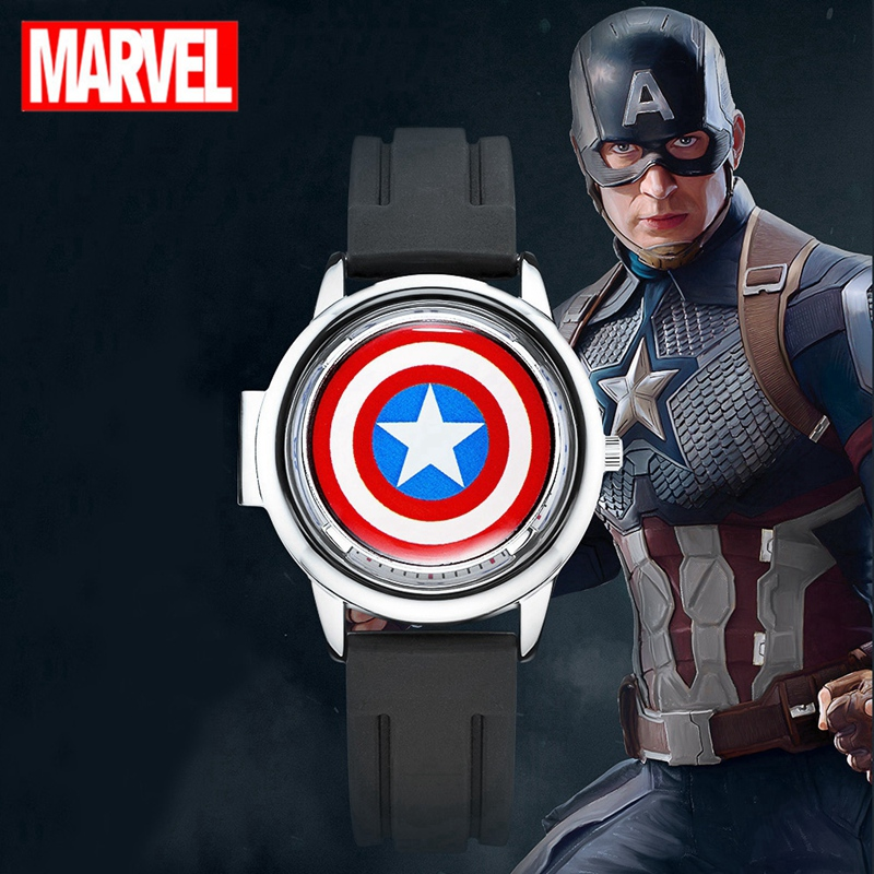 MARVEL Captain Hot Sale Child Boy Watch Cute Cartoon Kids Watches Quartz WristWatch Gift Children Hour Reloj Montre Relogio New