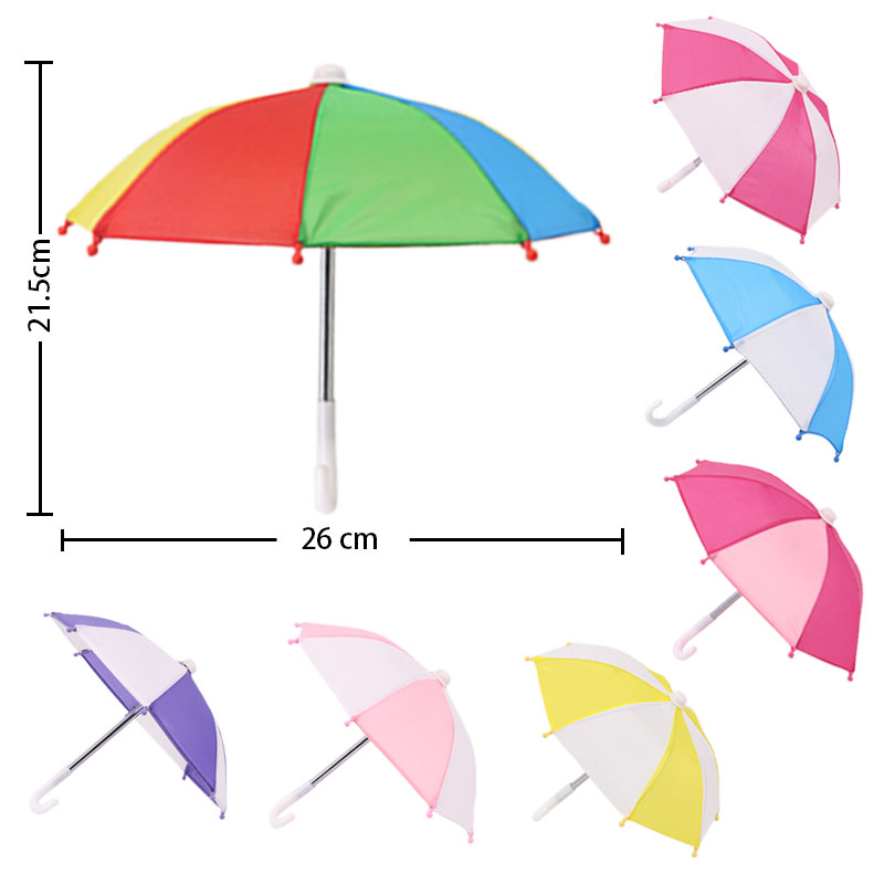 Doll Accessories, 7 Types Of Doll Umbrellas, For 18-inch American Girl Dolls And 43cm Bald Dolls, The Best Gifts For Girls(China)