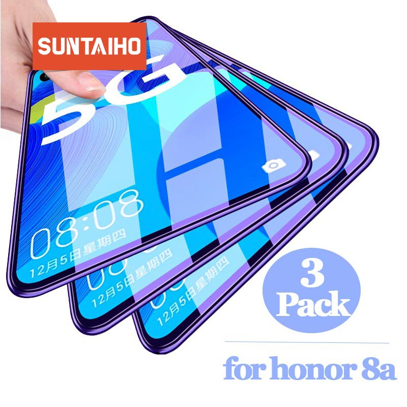 3pcs Suntaiho Tempered Glass For Honor 8a Protective Glass Screen Protector On For Huawei Honer Honor8a 8 A 10 20 Lite 7 7a 8 9x