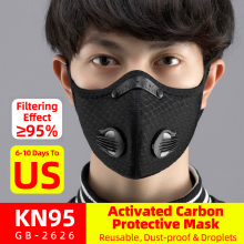 ROCKBROS Cycling Face Mask Filter KN95 Anit-fog Breathable Dustproof Bicycle Respirator Sports Protection Mouth-Muffle Dust Mask