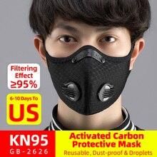 ROCKBROS Ciclismo Filtro de máscara facial KN95 Anit-fog Respirador de bicicleta
