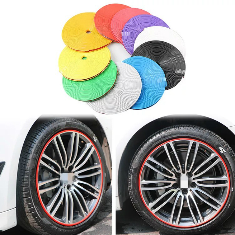 Car Wheel Stickers Protection Ring Anti-collision Tires Wheel Stickers for BMW M Emblem E46 E36 E34 F10 E90 F30 E60 F20 E39 E70 image