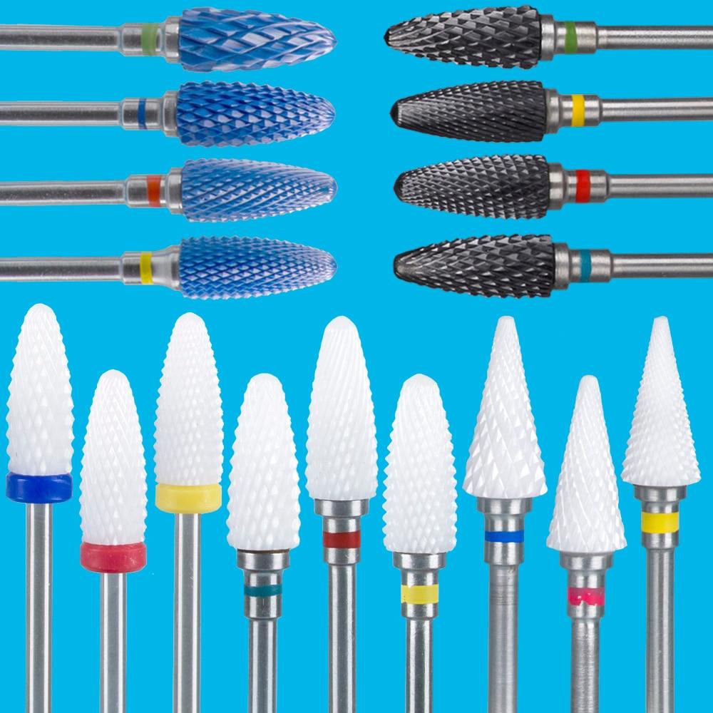 Фреза для маникюра, электрические сверла для ногтей, маникюрная машина, фреза для удаления гель-лака, пилочки для ногтей