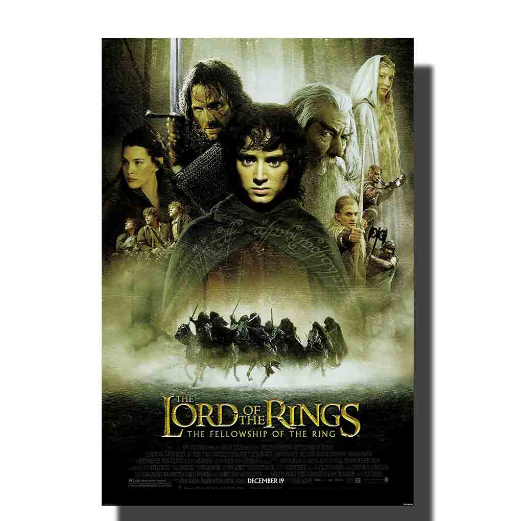 M672 Lord of The Rings Movie Poster 12x18 Print Canvas Wall Pictures Decoration 24x36in image