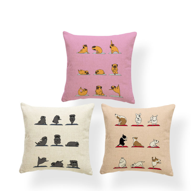 Animal Yoga Cushion Covers 1