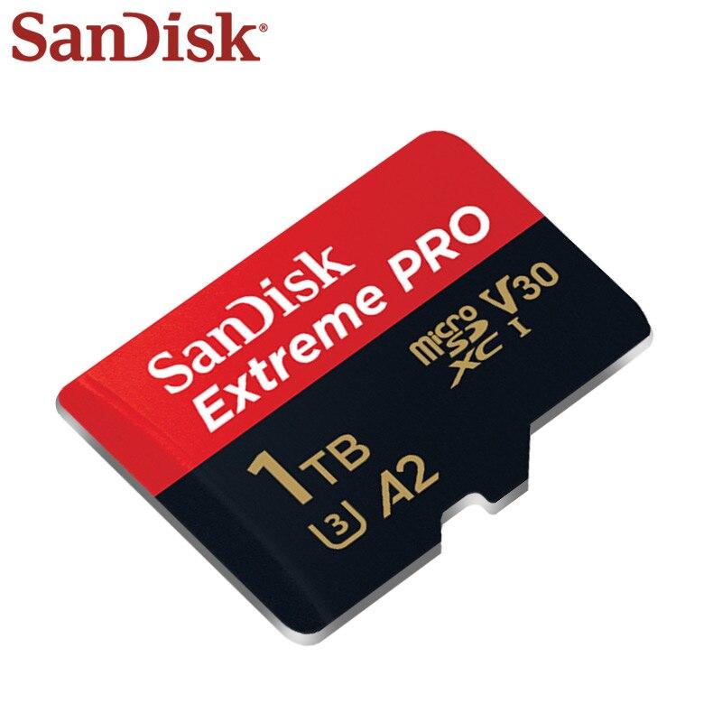 Оригинальная карта памяти SanDisk Extreme Pro, 1 ТБ, 512 ГБ, 400 гб, SDXC, TF-карта с адаптером до 170 дюйма, Φ U3 A2, высокоскоростная карта Micro SD-3