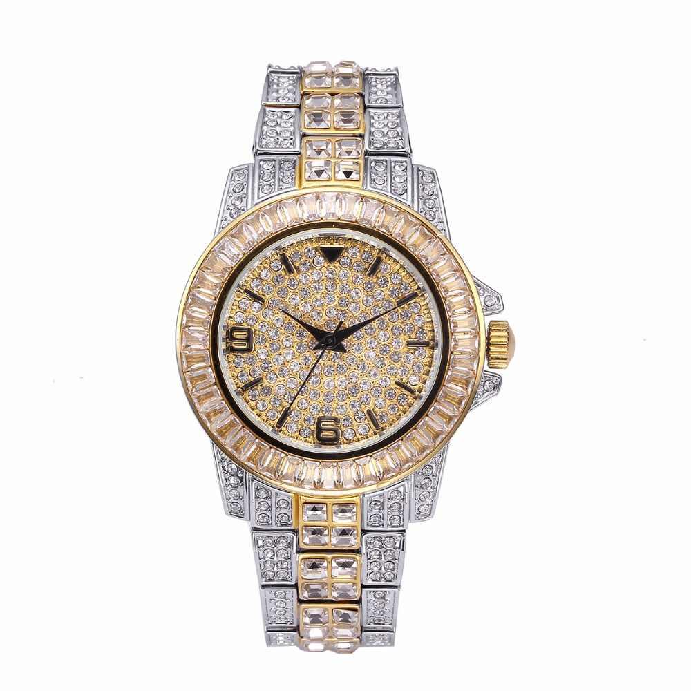 Miss Fox montres femmes 2019 Top marque de luxe Missfox étanche diamant montre femme horloge complet diamant unisexe montre à Quartz Saat