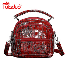 Small Backpack Women Leather Shoulder Bag 2019 Multi-Function Crocodile Print Backpacks Female Bagpack Bag for Teenage Grils