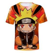 Детские футболки с изображением японского аниме, Детская футболка с рисунком Наруто, летняя одежда с короткими рукавами для мальчиков и девочек, футболка