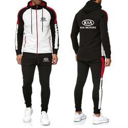 Новинка 2020, мужские толстовки с капюшоном для KIA Car, толстовка с принтом логотипа, модные повседневные мужские куртки + штаны, спортивный кост...