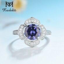 Kuololit Klassische Tanzanite Ring Solide 925 Sterling Silber Ringe Für Frauen Marke Edlen Schmuck Engagement Frauen Geschenk